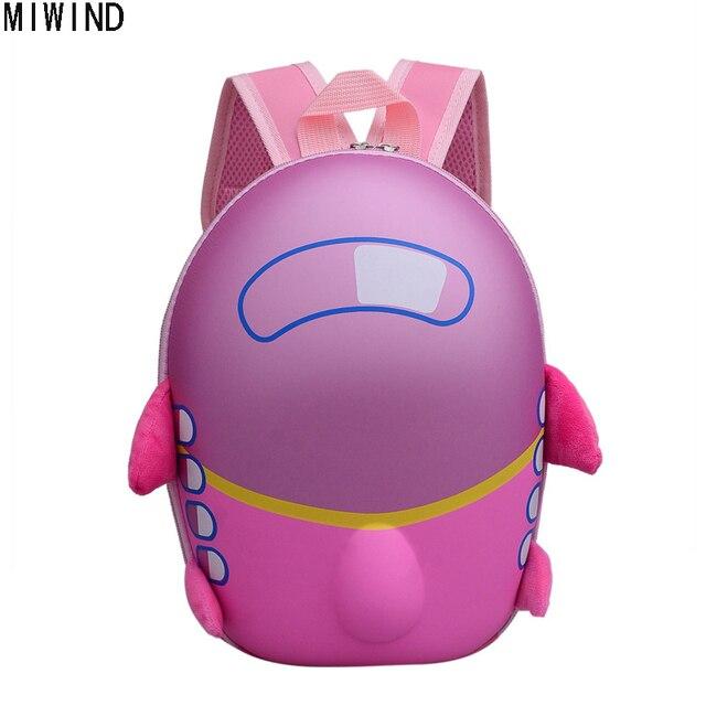 0119496122ad MIWIND Kids Backpack Animal Bag for 1-3 Years Boys and Girls Aircraft Bag  Kindergarten Children Cartoon School Bag TWL1010