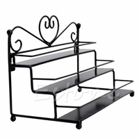 New 3 Tier Metal Heart Nail Polish Display Wall Rack Organizer Stand Holder