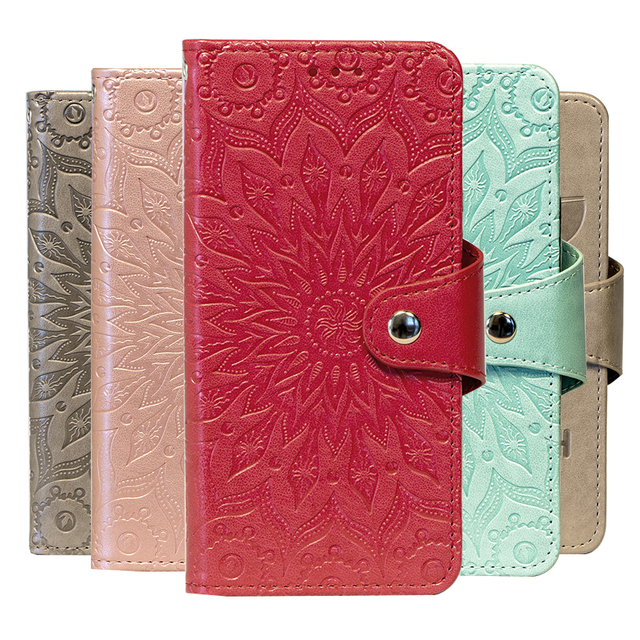 Embossing Stand Flip PU Leather wallet Case Cover For Leagoo T5 T5c Z5c Z6 Phone Cases