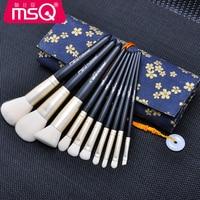 MSQ Pro 10Pcs Cosmetic Makeup Brushes Set Bulsh Powder Foundation Eyeshadow Eyeliner Lip Make Up Brush
