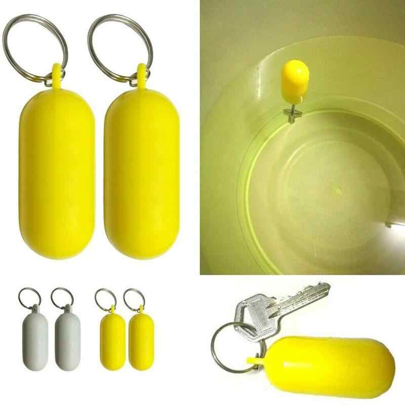 1pc Swimming Drifting Beach Yellow Floating Keychain Swimming Essential Marine Sailing Boat Float Canal Portable Keychain