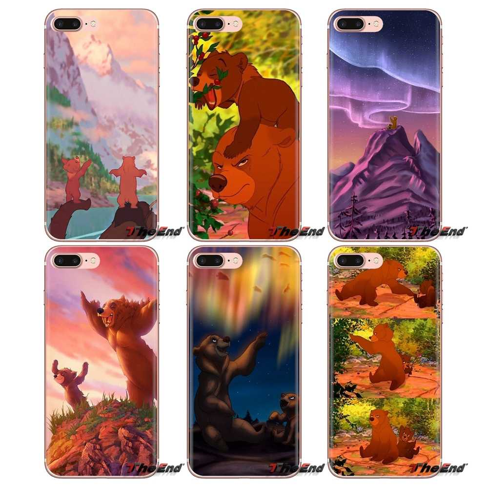 Silicone Phone Shell Case For iPod Touch Apple iPhone 4 4S 5 5S SE 5C 6 6S 7 8 X XR XS Plus MAX Pretty And Cute Brother Bear Art