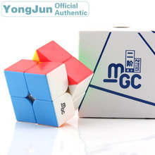 цены YongJun MGC 2x2x2 Magnetic Magic Cube YJ 2x2 Professional Neo Speed Puzzle Antistress Fidget Educational Toys For Children