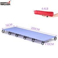 4.4LB 76*200 CM Cot Camping Ultralight Fioletowy Kolor Idealny Moistureproof Trwałe Wojskowy Składany Camping Łóżko Wysokość 100 MM