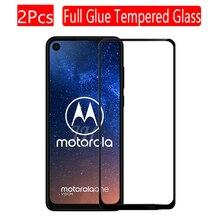 2 шт полное покрытие из закаленного стекла для Motorola Moto One экшен экран протектор 9H Защитное стекло для Moto One экшен пленка