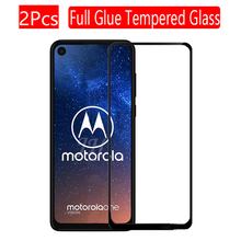 2Pcs Full cover Tempered Glass for Motorola Moto One Action Screen Protector 9H Protective Glass for Moto One Action Film