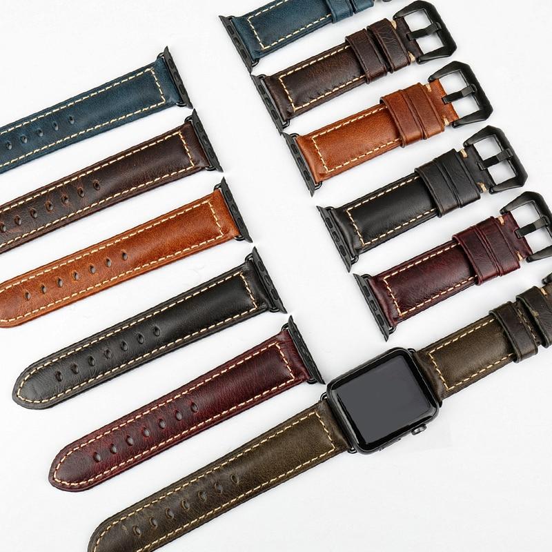 MAIKES Acessórios de relógio de couro genuíno para pulseira de - Acessórios para relógios - Foto 4