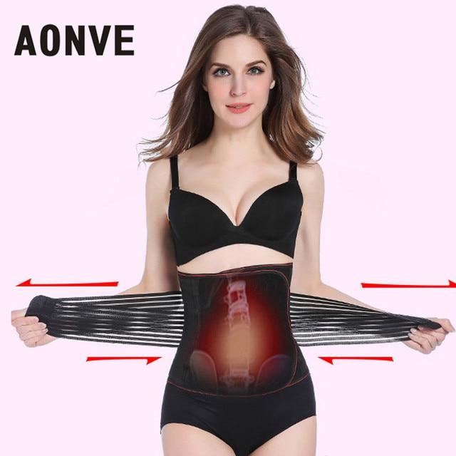 317cc471a6951 AONVE Corset Belt Abdomen Waist Trainer Slimming Strap Belly Binder Trans  Modeling Strap Fajas Body Shaper or Women Slimming