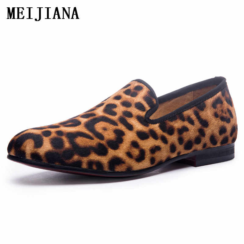 912fb08780 New Handmade Leopard Men Red Bottom Loafers Gentleman Luxury Fashion Stress  Shoes Party sequin shoes Men Casual Shoes