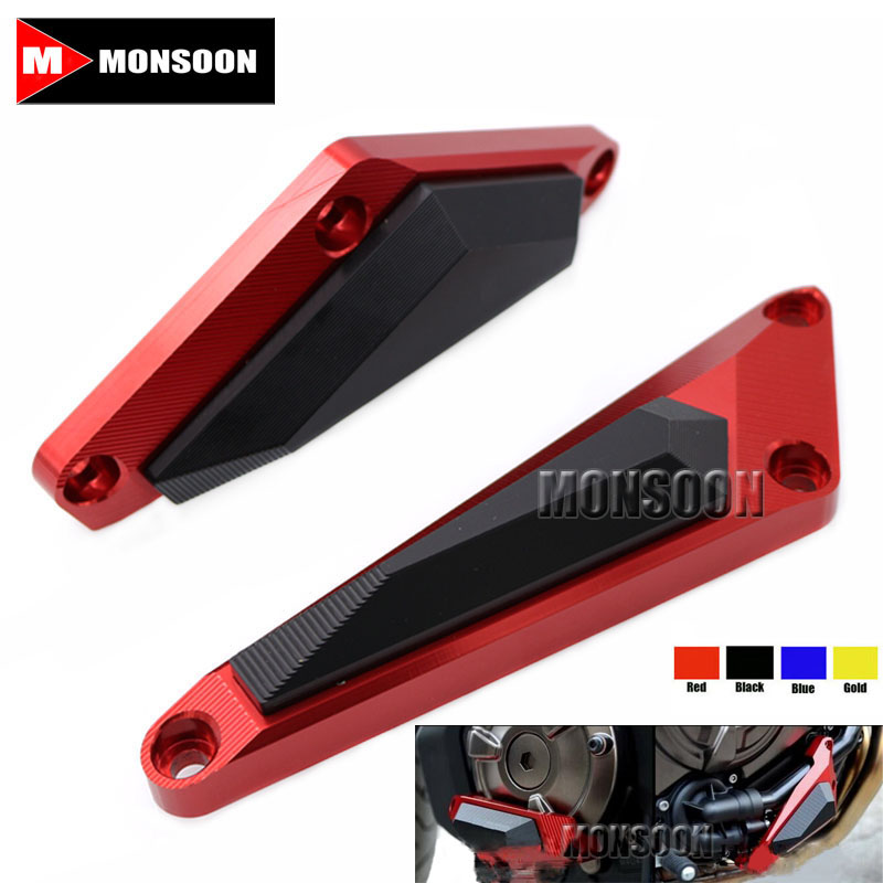 For YAMAHA MT-07/ FZ-07 MT07/FZ07 2014-2016 Motorcycle CNC Aluminum Engine Protector Guard Cover Frame Slider Red for yamaha mt 07 mt 07 fz07 mt07 2014 2015 2016 accessories coolant recovery tank shielding cover high quality cnc aluminum