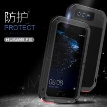 Love Mei металлический алюминиевый чехол для телефона huawei P10 чехол для телефона 2017 водонепроницаемый ударопрочный Броня Прочный Gorilla glass чехол для телефона s
