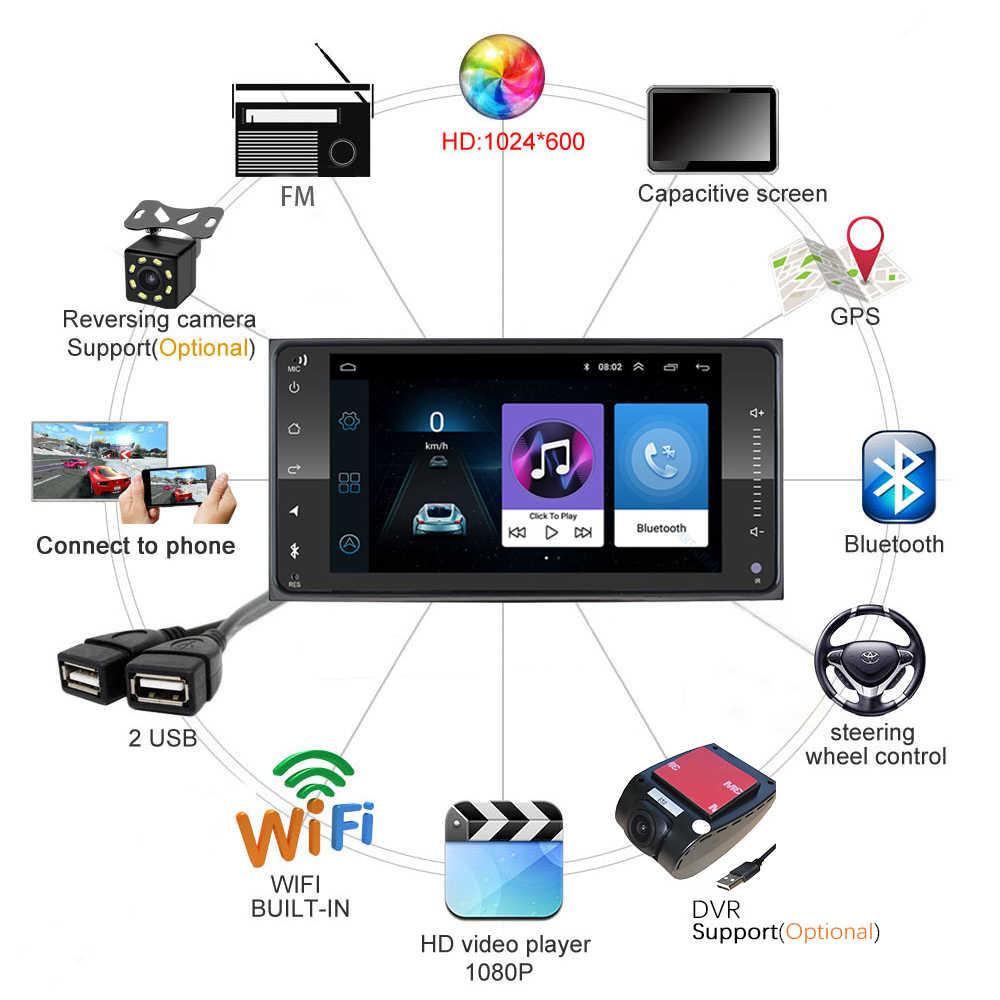 Android 8.1 samochodowe ODTWARZACZ DVD dla Toyota Corolla Camry Highlander 2din radio samochodowe nawigacja GPS WiFi lustro link odtwarzacz multimedialny