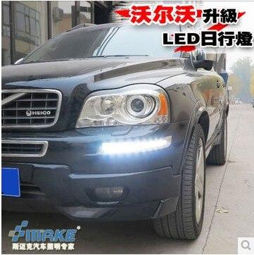Car Daytime running light 12V 15W LED DC DRL For Volvo XC90 2007-13 Fog light 2pcs/Set