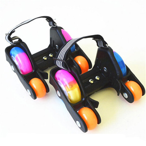 Adult Children LED Flashing Roller Skate Shoes With Hot Wheel Sports Heel Skates Rollers Shoes Inline Skating(China)