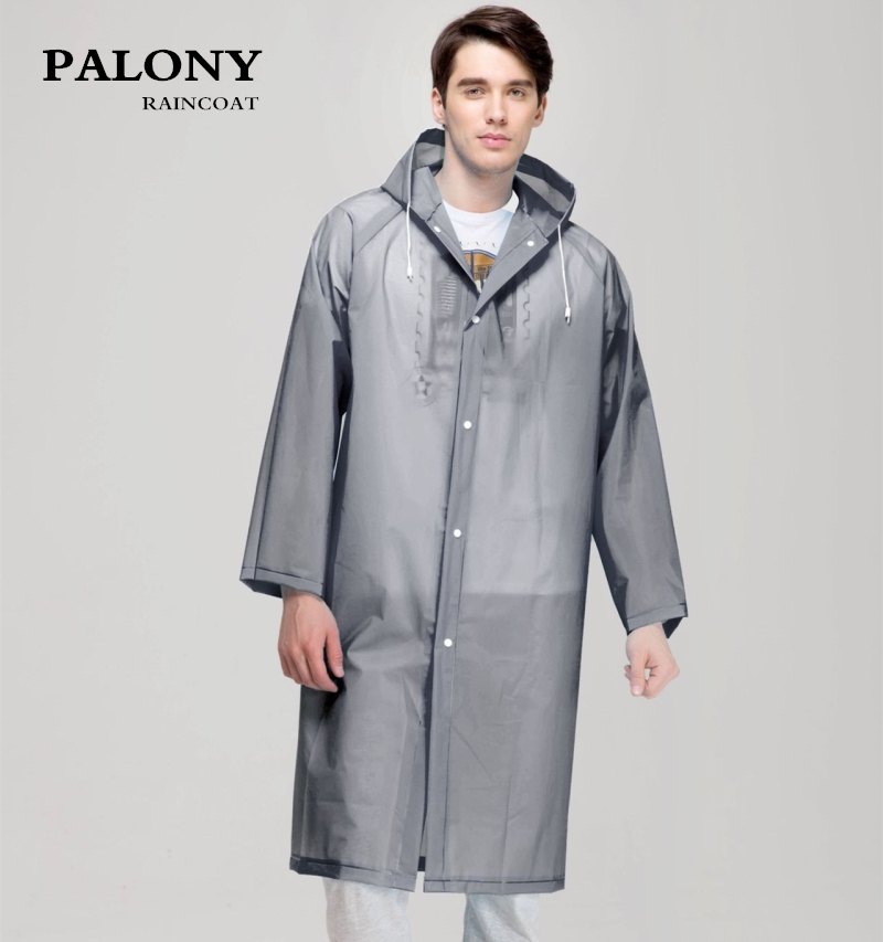 Fashion Women men EVA Transparent Raincoat Portable Outdoor Travel Rainwear Waterproof Camping Hooded Ponchos Plastic Rain Cover муфты ганзена