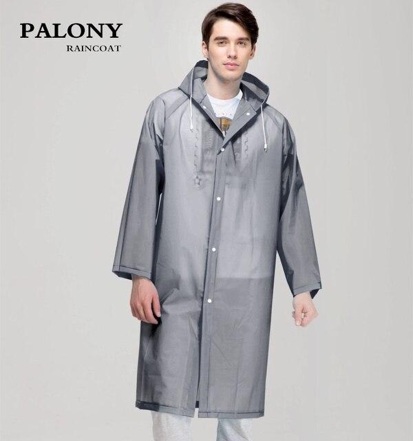 ファッション女性男性エヴァ透明レインコートポータブルアウトドア旅行レインウェア防水キャンプフード付きポンチョプラスチック雨カバー