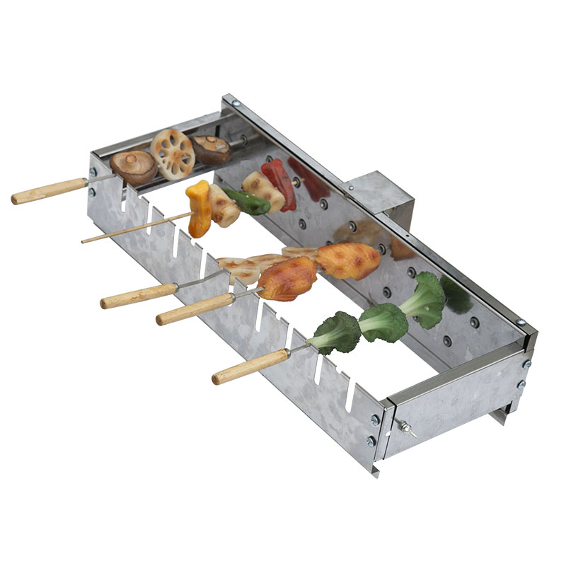 Not limited to roasting needles Automatically flipping the shelf Adjusting the width Barbecue Grill Rolling skewers