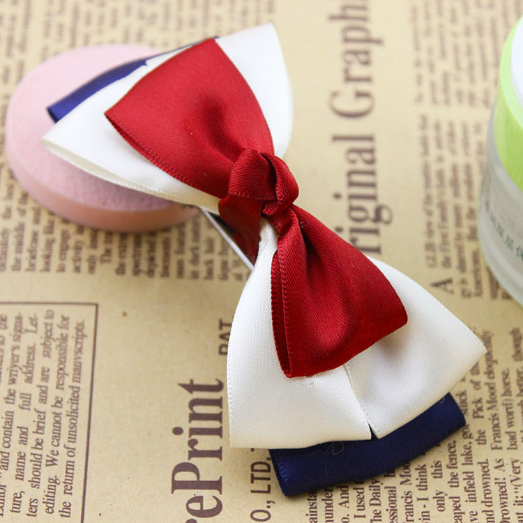 British navy wind bow hair hairpin, free home delivery han edition hair pearl four petals small clip hairpin edge clip a word free home delivery