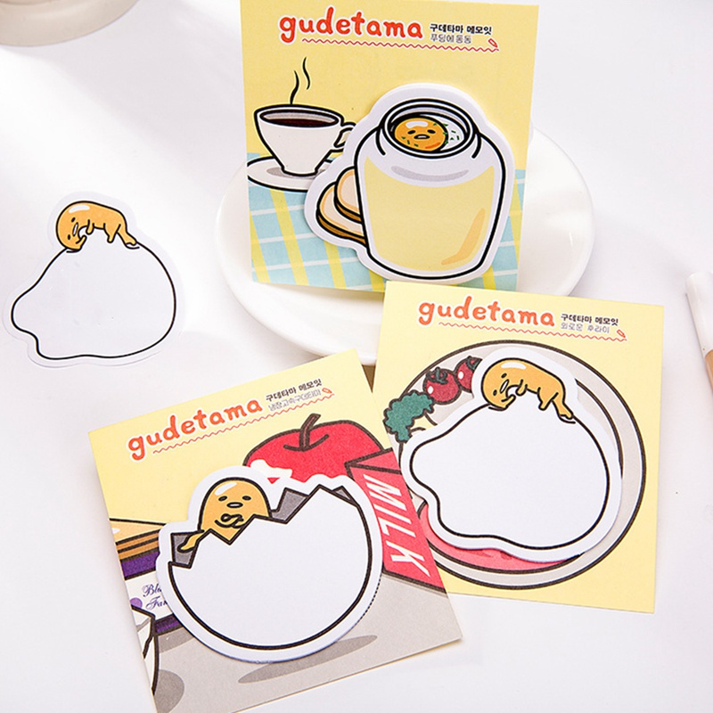 2pcs Cute Cartoon Egg Shell Memo Pad Paper Sticky Notes Post Notepad Stationery School Supplies Drop Shipping