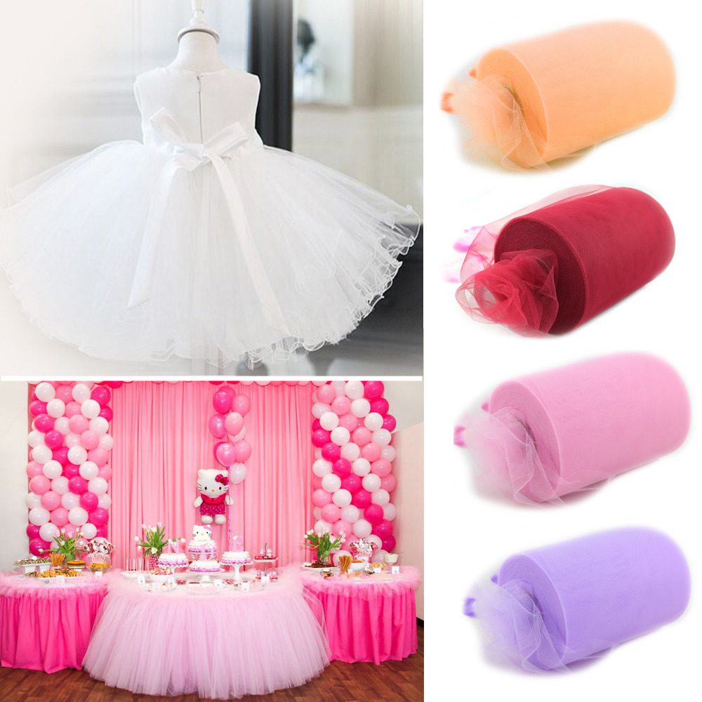 6inch 100yard Tulle Roll Spool Fabric Tutu Diy Skirt Gift