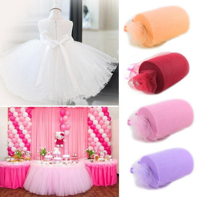 6inch*100yard Tulle Roll Spool Fabric Tutu DIY Skirt Gift Craft Party Bow Tulle Rolls  Wedding Party Decoration DIY Tutu Fabric