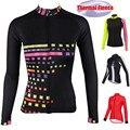 2019 Зимняя Теплая Флисовая футболка с длинным рукавом для велоспорта, женская одежда для велоспорта, велосипедная куртка, Джерси, Майо, Ropa ...