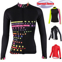 2019 Winter Thermal Fleece Long Sleeve Cycling Jersey Outdoor Women Cycling Clothing Bike Jacket Jersey Maillot Ropa Ciclismo