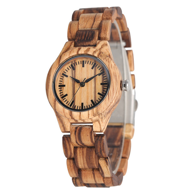 Relogio Masculino High Quality Natural Handmade Wood Strap Quartz Watch Movement for Women Classic Dial Wooden Watches | Fotoflaco.net