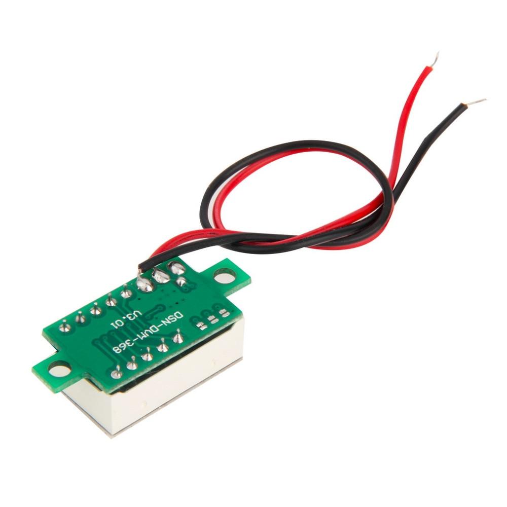 2017 nový digitální LCD voltmetr voltmetr voltimetro červená LED - Měřicí přístroje - Fotografie 3