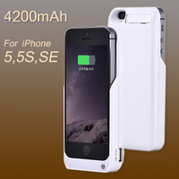 Thin Charger Case For IPhone 5 5S SE 4200mAh Backup Battery Wireless Charging Power Bank Portable
