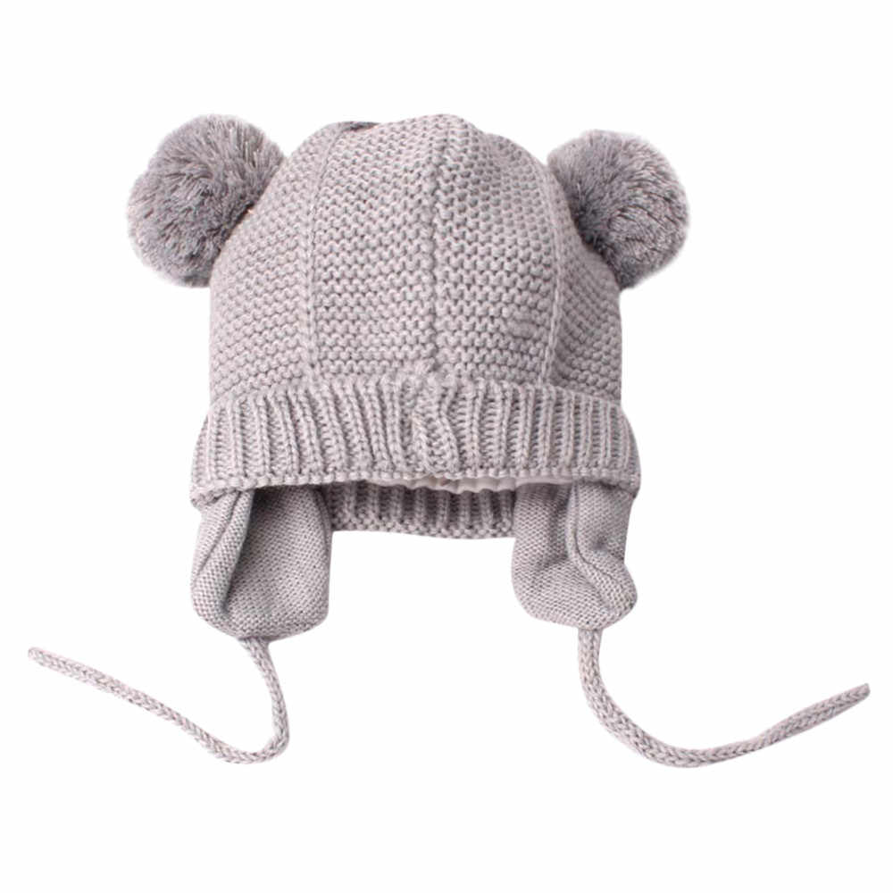 Baby Winter Hat Autumn Cute Toddler Kids Girl&Boy Baby Infant Winter Warm Crochet Knit Hat Beanie Capbonnet enfant hiver