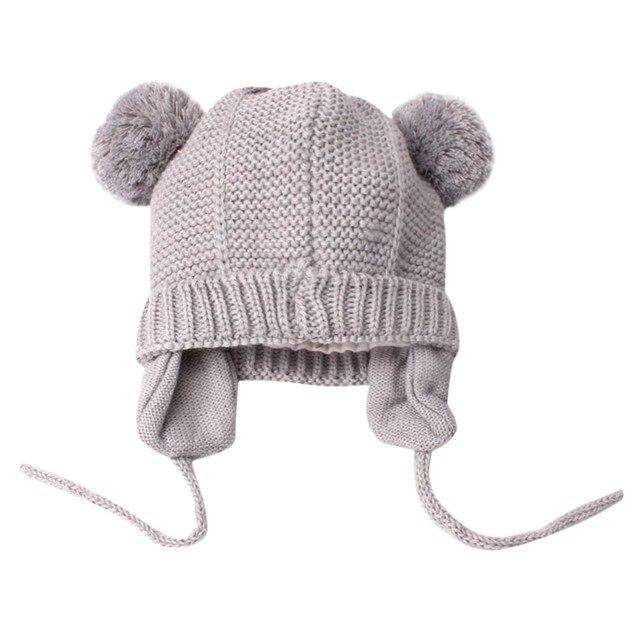 aa07e4e3a Bebé invierno sombrero lindo otoño niño niños niña y niño bebé invierno  cálido de punto de