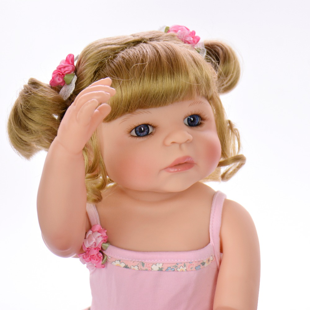 56 cm com corpo de silicone menina Reborn bébé poupées bébé vivant Bebe réaliste Boneca vraie fille poupée lol jouets de bain pour les enfants - 6