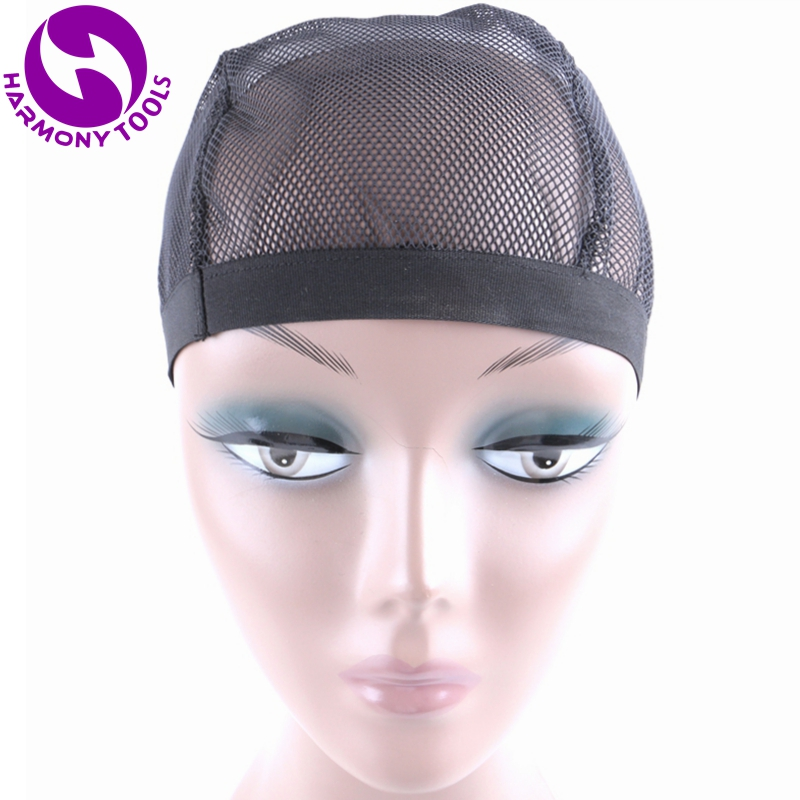 HARMONY 10 Pieces High Quality Black Stretchable Elastic Hairnets Wig Cap for Making Wigs Snood Mesh Weaving