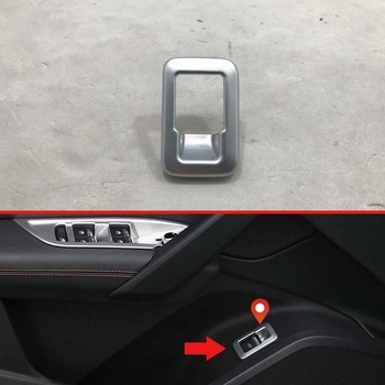 For Audi Q5 FY 2018 2019 Decorate Accessories ABS Chrome Matte Tail door cover Switch Button Control Panel Cover Trim Bezel image