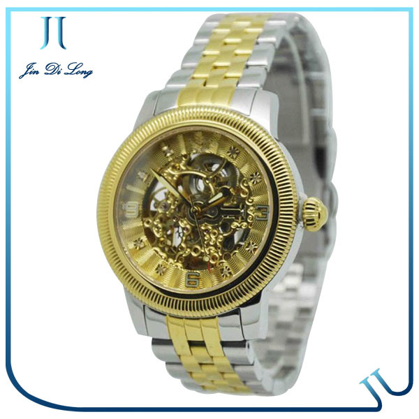 Fashion Men Mechanical Hand Wind Watches men Skeleton Stainless Steel Wristwatches for Male Luxury Golden Watch Men fashion men mechanical hand wind watches men skeleton stainless steel wristwatches for male luxury golden watch men