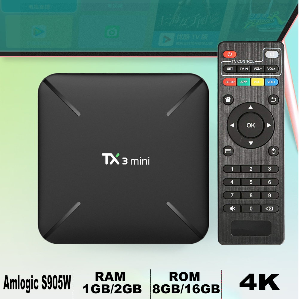 TX3 mini Smart TV Box Android 7.1 HD Amlogic S905W Quad Core 1GB 8GB DLNA WiFi Smart TV BOX HD 2GB 16GB Media Player PK X96 MINI