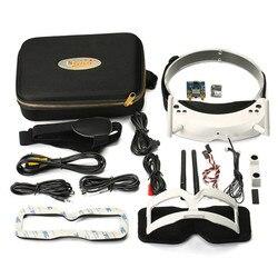100% original Skyzone SKY02S V+ 3D 5.8G 40CH FPV Goggles Video Glasses With Transmitter Camera Head Tracking HDMI DVR white