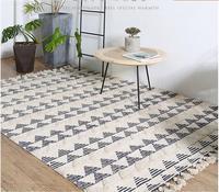 Индийский импортный хлопковый ковер для спальни Скандинавская гостиная декоративная зона стол ковры ручной работы винтажный большой кове
