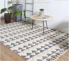 India Imported Cotton Bedroom Carpet Nordic Living Room Decorative Area Table Rugs Hand-woven Vintage Large Carpet
