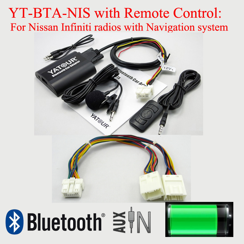 Yatour Car Bluetooth MP3 BTA with Remote control for Nissan Infiniti radios with Navigation system car usb sd aux adapter digital music changer mp3 converter for skoda octavia 2007 2011 fits select oem radios