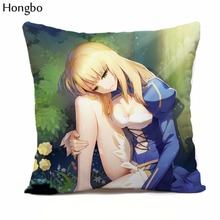 Hongbo 1 Pcs New Anime Cartoon FATE ZERO Double-Sided Pillow Home with Core 45x45cm