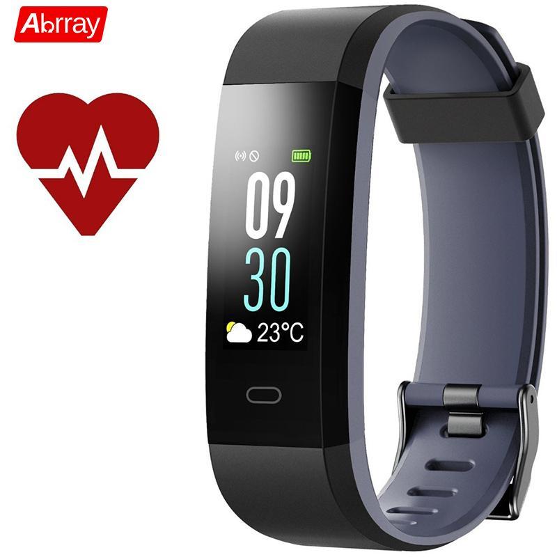 Abrray Smart Sport bracelet pour hommes podomètre montre femmes Fitness Trackers coloré écran montre mode appel Message rappel
