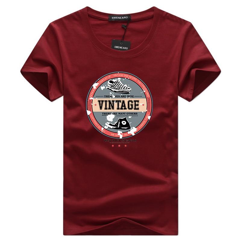 S-5XL Casual Short Sleeve O-neck Letter Printed Cotton T Shirt Men Brand NEW 2019 White Black Tee Shirt Mens Tshirt Camisetas