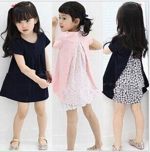 Lucu merah muda dan hitam gadis berpakaian ab9335c5c1