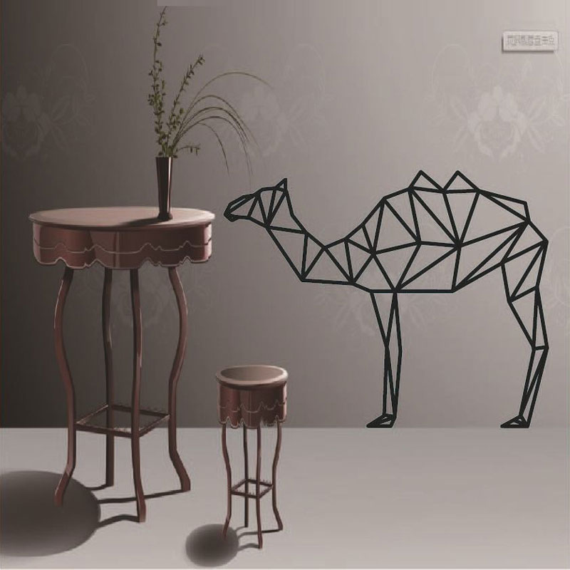 Diy geometric camel wall sticker modern home decor for Home decor 72
