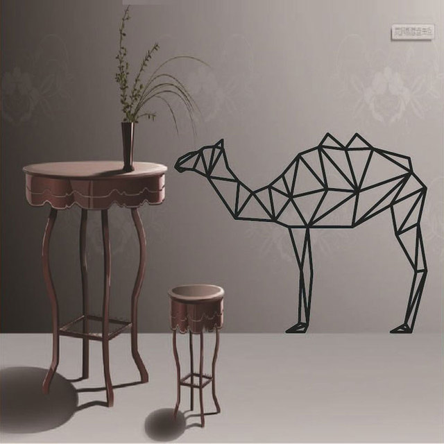 Diy Geometric Camel Wall Sticker Modern Home Decor Geometry Animal Series Decals 3D Vinyl Art