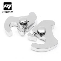 1Pair Motorcycle Sissy Bar Luggage Rack Latch Clip Kit For Harley Electra Street Glide Softail Night