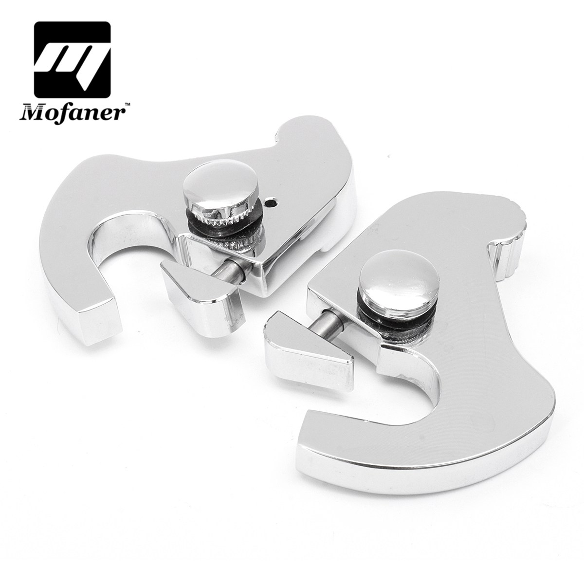 1Pair Motorcycle Sissy Bar Luggage Rack Latch Clip Kit For Harley Electra Street Glide Softail Night Train Fat Boy 883 1200