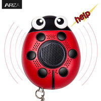 Ariza 130Db Self Defense SOS Emergency Personal Panic Alarm Keychain With LED Light For Women Children